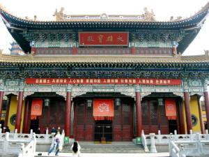 Die Haupthalle des Jinshan Tempels