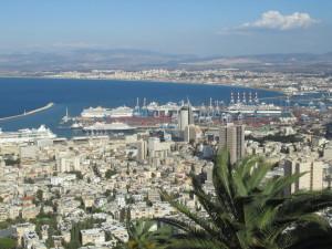 Blick vom Carmel auf Haifa