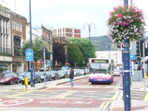 Stadtzentrum von Swansea