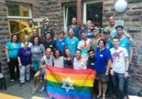 Gäste aus Israel während der Demo-Parade des CSD