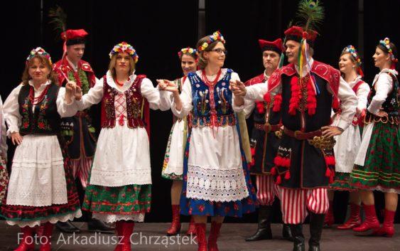 Tanzgruppe Kujawiak mit Gästen aus Bydgoszcz beim Neujahrsempfang der Stadt Mannheim